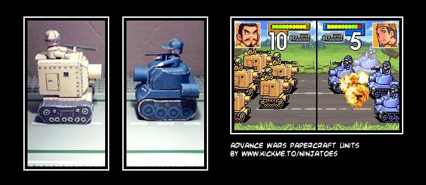 Advance Wars papercraft by ninjatoespapercraft