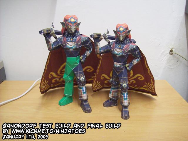 Twin Ganondorf papercraft by ninjatoespapercraft