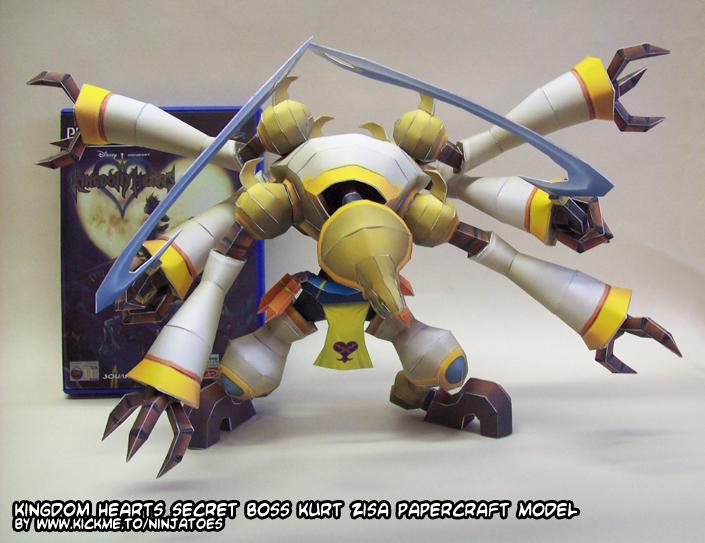 Kurt Zisa papercraft size by ninjatoespapercraft
