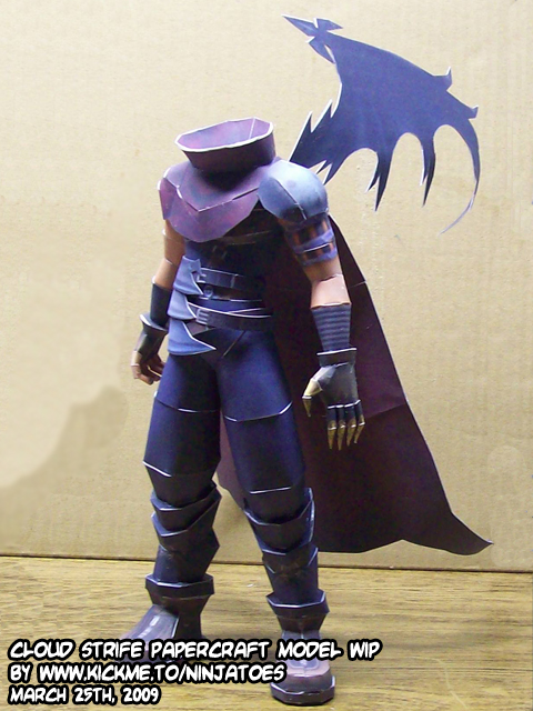 Cloud Strife papercraft WIP by ninjatoespapercraft