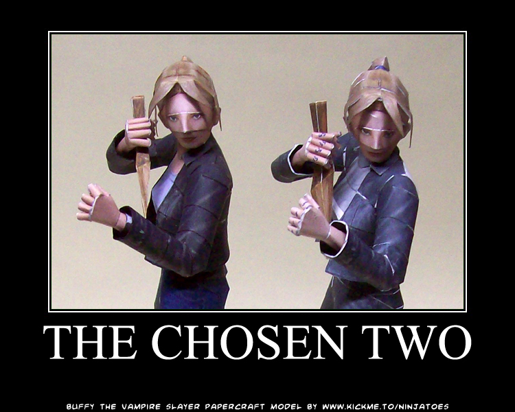 Buffy, the chosen two by ninjatoespapercraft
