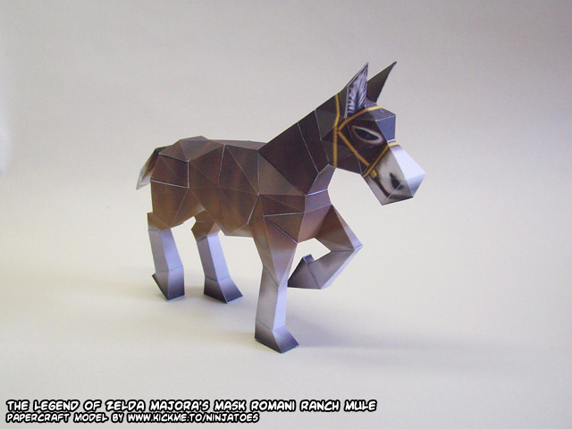 Romani Ranch mule papercraft by ninjatoespapercraft