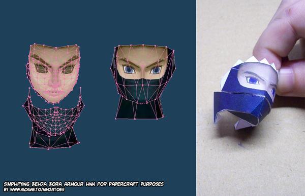 3simplifying Link 2 papercraft by ninjatoespapercraft