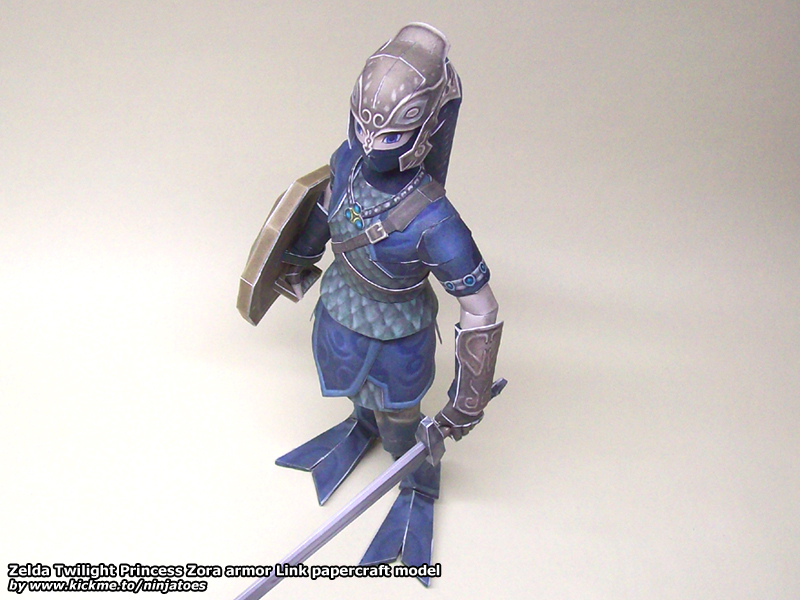 Zora armor Link papercraft 1 by ninjatoespapercraft