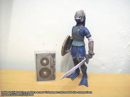 Zora armor Link papercraft 5 by ninjatoespapercraft
