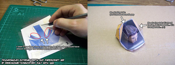 Transparant papercraft parts by ninjatoespapercraft
