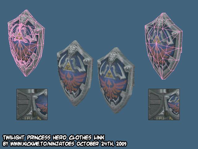 Hylian shield simplification by ninjatoespapercraft