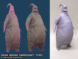 chubby Oogie Boogie papercraft by ninjatoespapercraft