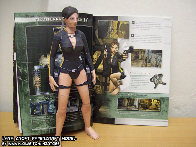 papercraft Underworld Lara 4 by ninjatoespapercraft