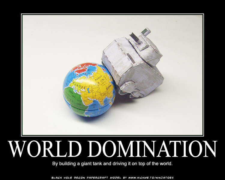 Papercraft world domination by ninjatoespapercraft