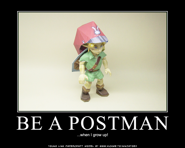 Link wants to be a postman by ninjatoespapercraft on ...