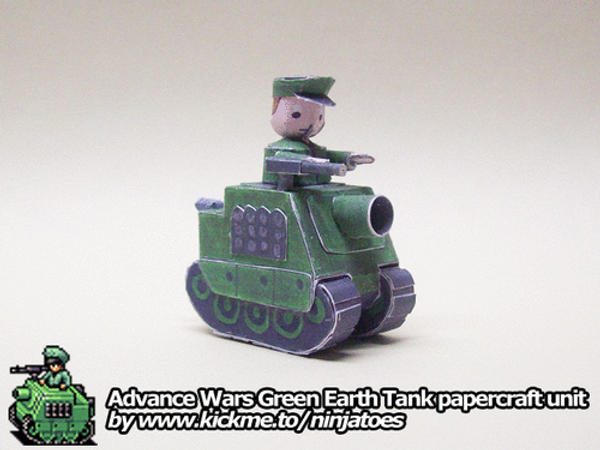 Advance Wars papercraft Tank by ninjatoespapercraft