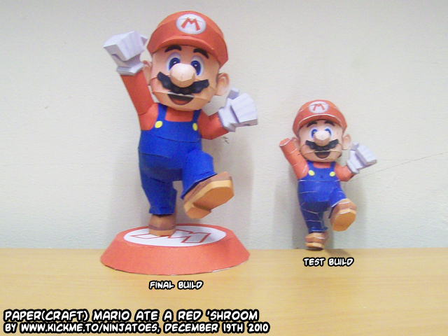 Papercraft Mario red 'shroomed by ninjatoespapercraft
