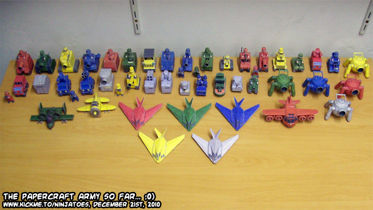 Advance Wars papercraft models by ninjatoespapercraft