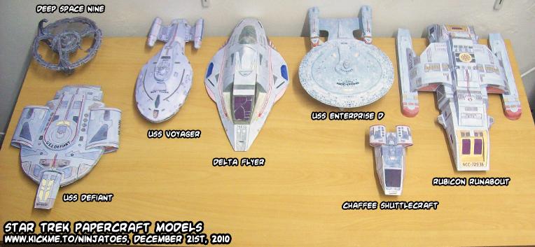 Star Trek papercraft models by ninjatoespapercraft