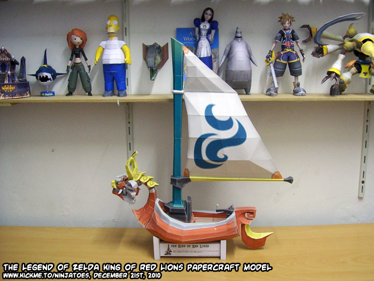 King of Red Lions paper model by ninjatoespapercraft