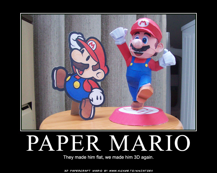 real Paper Mario by ninjatoespapercraft