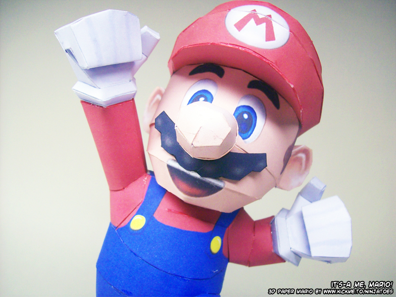 It's-a me, Paper Mario by ninjatoespapercraft