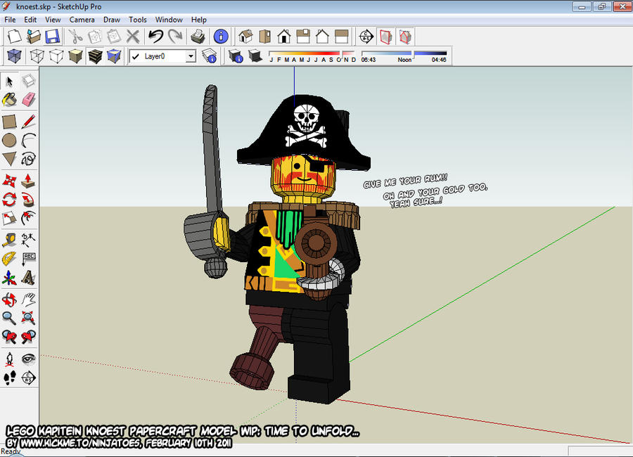 3D LEGO pirate final by ninjatoespapercraft