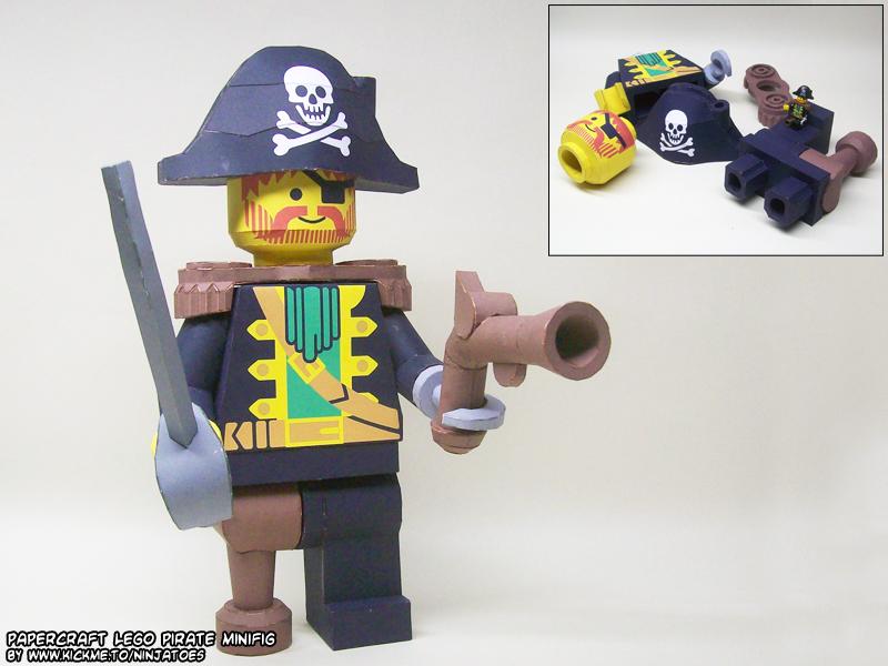 papercraft LEGO pirate by ninjatoespapercraft