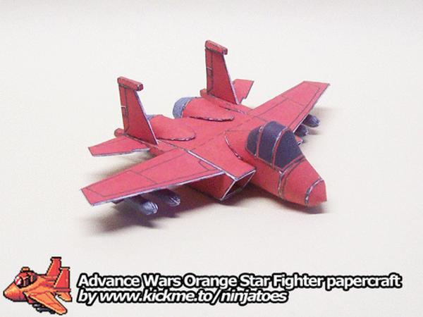 papercraft Advance Wars plane by ninjatoespapercraft