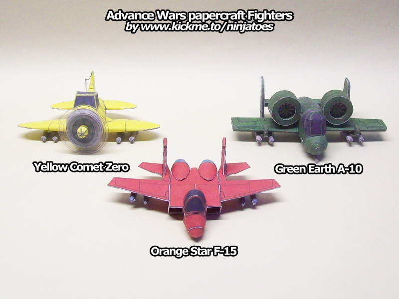 Advance Wars paper Fighters by ninjatoespapercraft