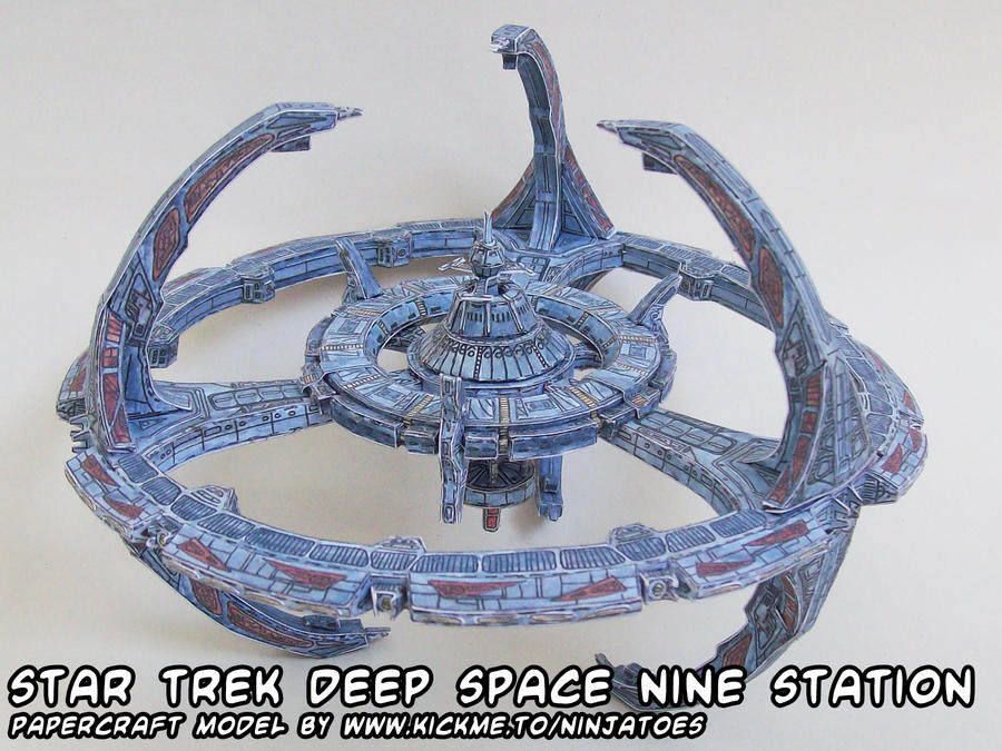 Deep Space Nine papercraft by ninjatoespapercraft