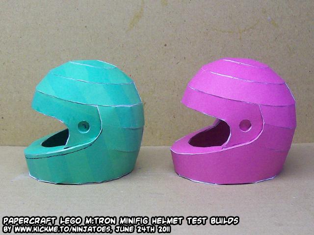 LEGO M:Tron helmet papercraft by ninjatoespapercraft