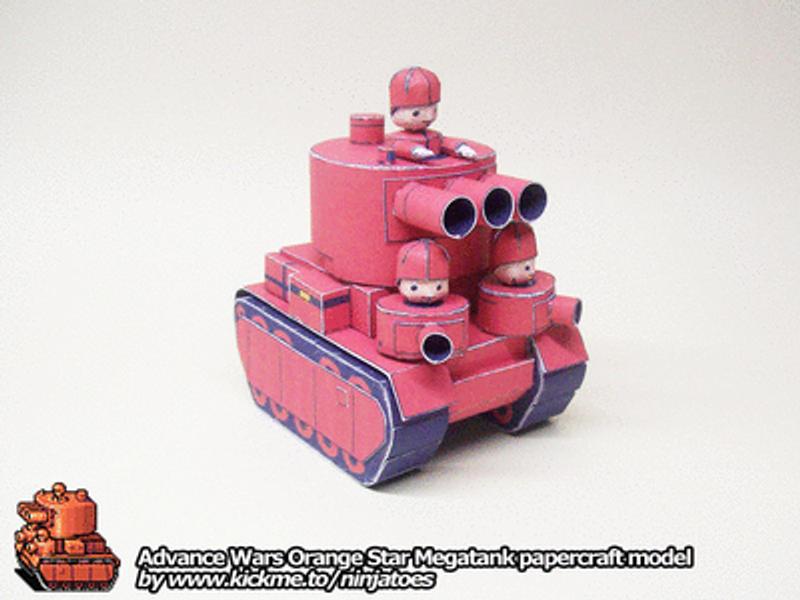papercraft AW OS Megatank by ninjatoespapercraft