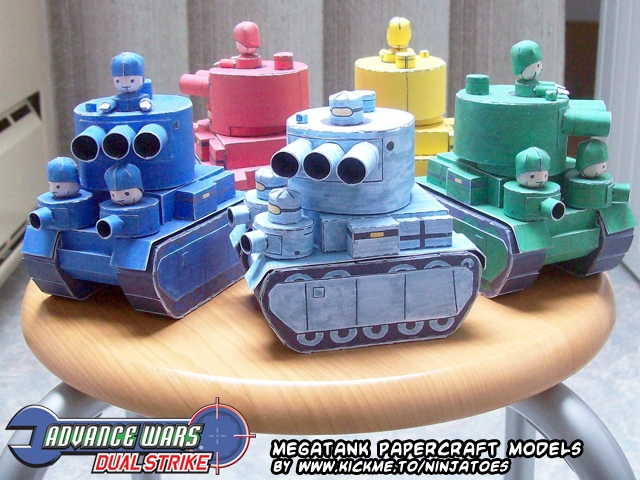 AWDS papercraft Megatanks by ninjatoespapercraft