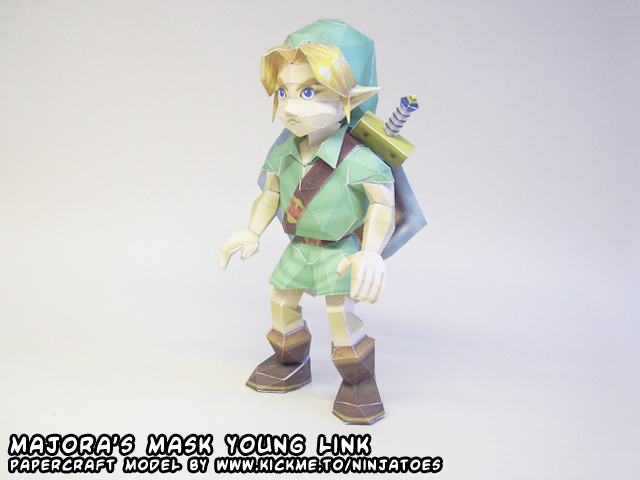 27th papercraft: young Link by ninjatoespapercraft