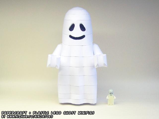 plastic+ papercraft LEGO Ghost by ninjatoespapercraft