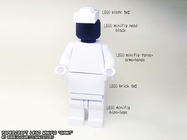 papercraft LEGO giant by ninjatoespapercraft