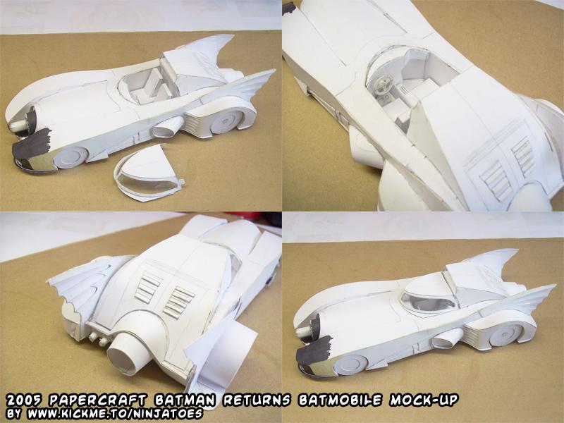 papercraft Batmobile mock-up by ninjatoespapercraft