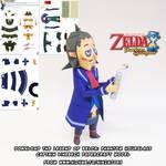 Zelda Linebeck papercraft 4