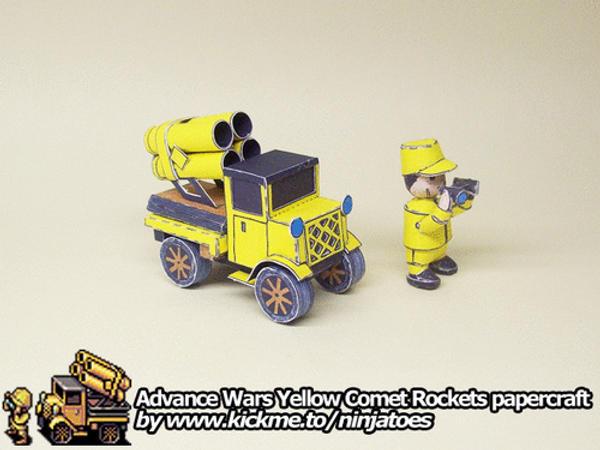papercraft Advance Wars Yellow Comet Rockets by ninjatoespapercraft