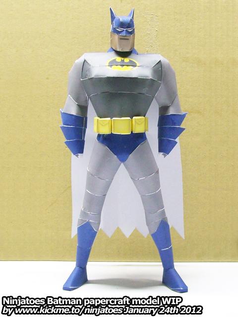 wallpaper craft batman: Papercraft Batman WIP By Ninjatoespapercraft On DeviantArt
