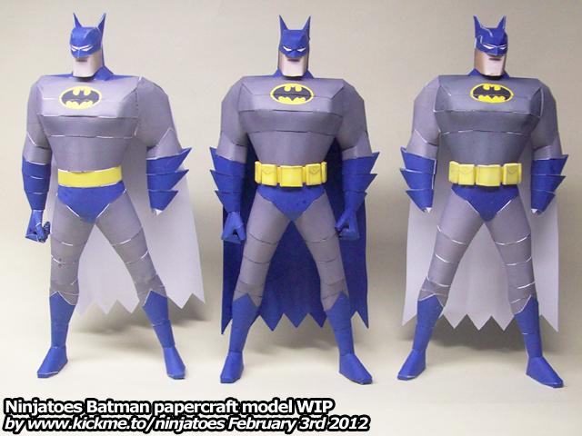 Three papercraft Batmen?? by ninjatoespapercraft