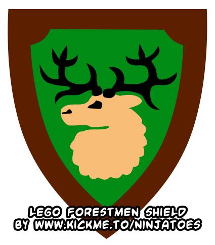 LEGO Forestmen logo by ninjatoespapercraft