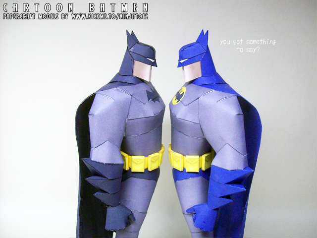 Don't mess with The Batman... by ninjatoespapercraft