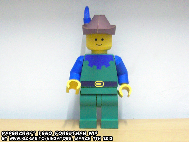 papercraft LEGO Forestman (w/o quiver+bow) by ninjatoespapercraft