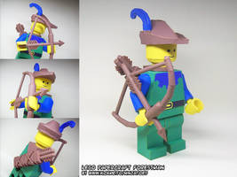 papercraft LEGO Forestman with bow+arrow by ninjatoespapercraft