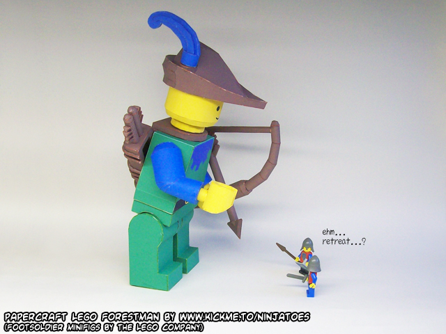 papercraft LEGO Forestman MINIfig?