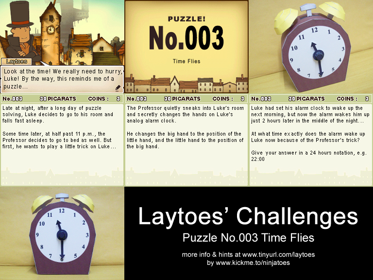 Laytoes' Challenge 003 papercraft puzzle by ninjatoespapercraft