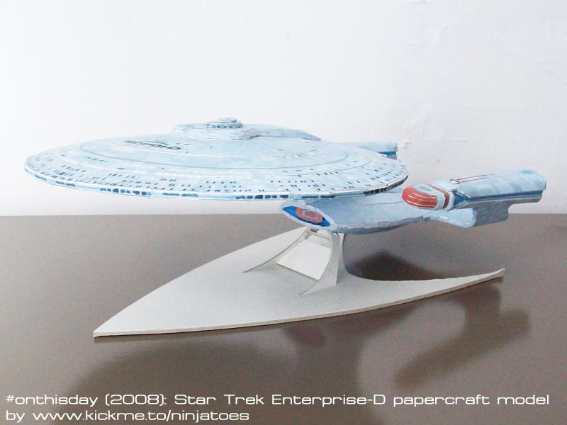 papercraft Star Trek TNG Enterprise-D by ninjatoespapercraft