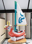 Papercraft Zelda King of Red Lions boat