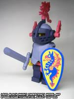 papercraft LEGO Black Knight WIP15 by ninjatoespapercraft