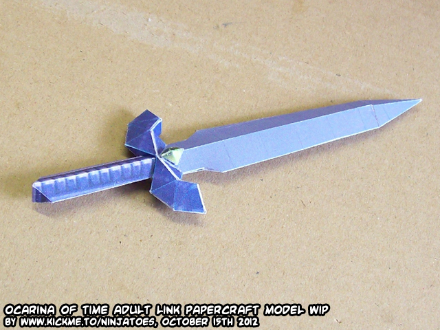 Papercraft Zelda OoT Menu Link Master Sword test by ninjatoespapercraft