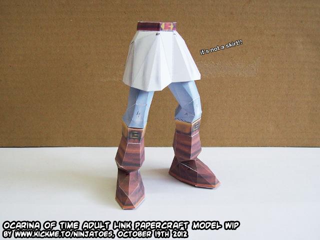 Papercraft Zelda OoT Menu Link it's not a skirt!! by ninjatoespapercraft