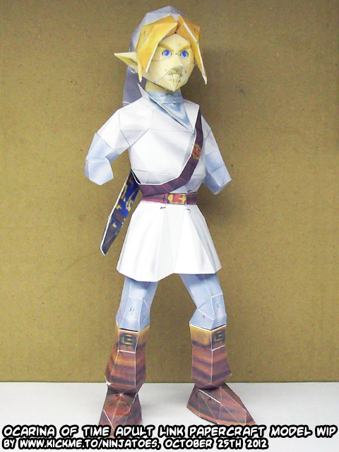 Papercraft Zelda OoT Menu Link look ma, no hands! by ninjatoespapercraft